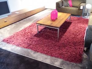 Perletta marley rood karpet Opruiming