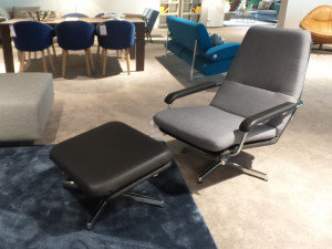 Gelderland Retro 400 fauteuil met hocker Opruiming