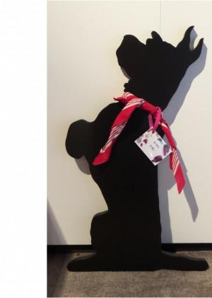 Hond met sjaal