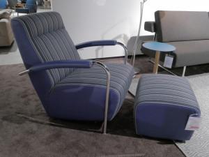 Leolux Scylla fauteuil Flavours Blueberry hoog Opruiming