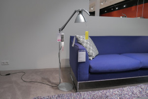 Luceplan fortebraccio vloerlamp metaal opruiming