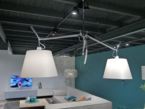 Artemide Tolomeo basculante suspension 2 armen opruiming