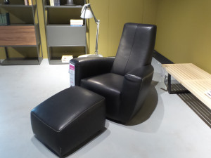 Label Longa fauteuil met hocker Opruiming