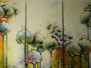 Opruiming: Carla Raadsveld schilderij 3 luik