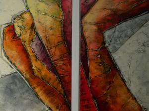 Opruiming: Carla Raadsveld schilderij 2 luik