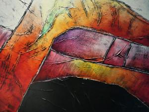 Opruiming: Carla Raadsveld schilderij kleurrijk