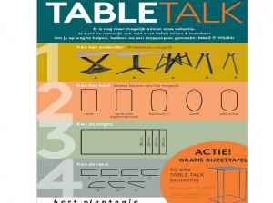 Bert Plantagie Table Talk, met gratis bijzettafel.